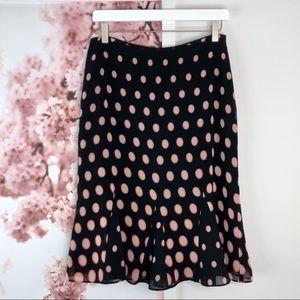 Emma James Petites Doted Godet Skirt